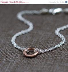 Rose Gold Eternity Bracelet