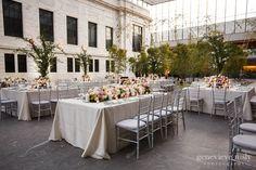 Cleveland museum of art wedding reception in the atrium