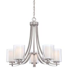 Minka Lavery Chandelier Pendant Lighting 410584 Parsons Studio Dining Room 5 Light Nickel >>> To view further for this item, visit the image link-affiliate link. Brushed Nickel Chandelier, Chandelier Shades, Chandelier Pendant Lights, Brushed Nickel Light Fixtures, Kitchen Chandelier, Modern Chandelier, Dining Room Lighting, Home Lighting, Lighting Ideas