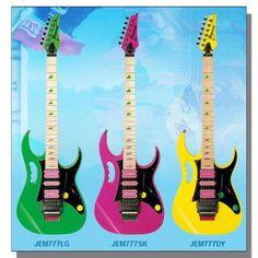 The original trio of Ibanez JEM777 Steve Vai models from 1987