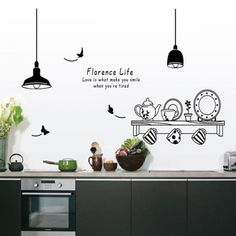 Effect Kitchen Tools Restaurant wall stickers Decals Kitchen Decoration Home Decor DIY wall art MURAL-in Wall Stickers from Home & Garden on AliExpress Kitchen Vinyl, Kitchen Wall Decals, Kitchen Wall Stickers, Diy Kitchen Decor, Kitchen Cupboards, Home Decor, Decorating Kitchen, Kitchen Countertops, Kitchen Tools