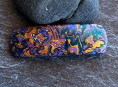 Hair accessory Polymer clay barrette Unique Hair barrette Mokume gane Purple clip Hair clip Womens accessory Clay barrette Womens gift