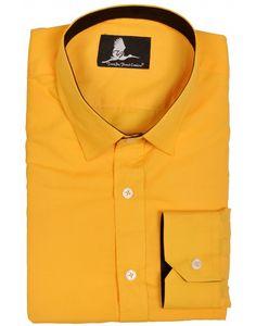 5043a1db19c4 Golden Poppy Yellow shirt Black contrast