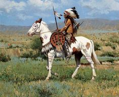 This is definitely one of the best native American painting and art illustrations you can find.It is often believed that the ancient Native Americans c Native American Horses, Native American Paintings, Native American Warrior, Native American Wisdom, Native American Pictures, Native American Women, Native American Artists, American Indian Art, Native American History