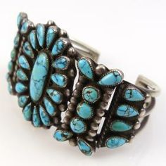 1950s Burnham Turquoise Cuff by Vintage Collection - Garland's Indian Jewelry