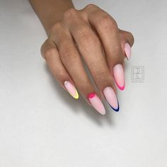 Long And Short French Tip Acrylic Nails Nails With Glitter 2019 french tip acrylics almond shaped french tip acrylic nails with design squoval french tip nails summernailideas French Tip Acrylic Nails, Acrylic Nail Designs, French Nails, French Stiletto Nails, American Nails, Manicure And Pedicure, Nail Tips, Nail Ideas, Nails Inspiration