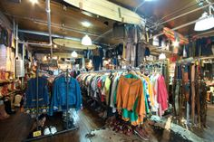 Stella Dallas 10 foot single. Massive vintage shop selling men's and women's clothing and shoes. Run by a meticulous staff, everything is clean, mended, and fastidiously organized. Not thrift-shop cheap but very affordable for how comprehensive it is.