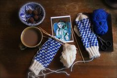 Photo by Liivia Sirola Mitten Gloves, Mittens, Vintage Knitting, Indigo, Knit Crochet, My Photos, Palette, Gnomes, My Style