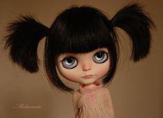 OOAK Artdoll Custom Blythe Doll December Orphan by ~ Melacacia ~ Human Hair Girl | eBay