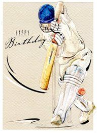 41664-NT - Birthday Cricket - Card (125x170mm) Male Birthday, Birthday Cards For Men, Birthday Quotes, Cricket Wallpapers, Recycle Art, Sachin Tendulkar, Crazy Fashion, Cricket Sport, Boy Cards