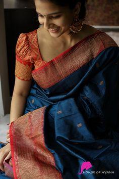 Cotton Saree Designs, Pattu Saree Blouse Designs, Simple Blouse Designs, Bridal Blouse Designs, Latest Silk Sarees, Blouse Designs Catalogue, Silk Sarees Online Shopping, Sari Design, Saree Models