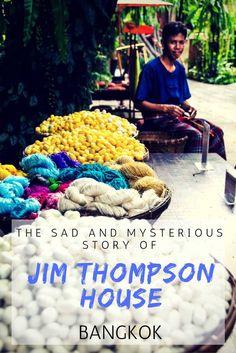 Heading to Bangkok? Then you should check out Jim Thompson House/Museum. It has a sad and mysterious story. Bangkok Itinerary, Bangkok Travel Guide, Thailand Travel Tips, Asia Travel, Bangkok Market, Bangkok Restaurant, Bangkok Hotel, Thailand Destinations, Holiday Destinations
