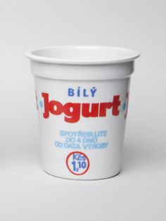 Porcelánový kelímek- Bílý jogurt - Harddecore