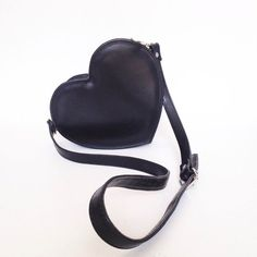 Black Heart Faux Leather Crossbody Bag Ready to by goldenponies Leather Crossbody Bag, Leather Purses, Leather Handbags, Leather Bag, Vegan Purses, Black Heart, Black Faux Leather, Leather Shoulder Bag, Shoulder Bags