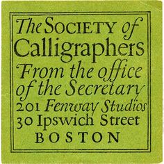 """Detail from return-address label, early 1920s.    Republished for the first time in """"W. A. Dwiggins: A Life In Design"""". Get the book: Link in bio. #HiddenDwiggins"""