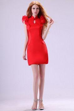 V-Ausschnitt Organza Rot Graduierung Kleider kv2582 - Silhouette: Mantel / Spalte; Stoff: Organza, Verzierungen: Plissee, Länge: Kurz - Price: 155.8000 - Link: http://www.kleiderverkaufen.de/v-ausschnitt-organza-rot-graduierung-kleider-kv2582.html