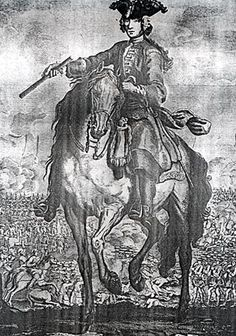 Prince Charles at the battle of falkirk 1745