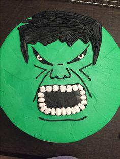 Hulk buttercream cake