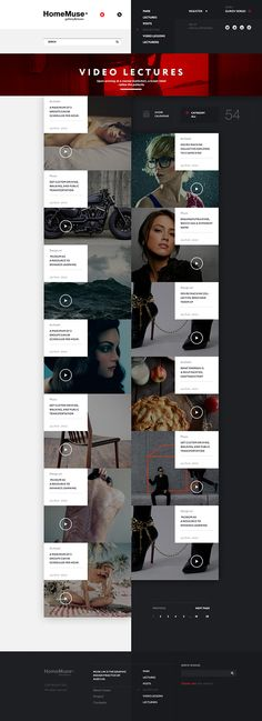 HomeMuse Gallery by Sergei Gurov, via Behance HomeMuse Gallery on Behance  FLAT DESIGN