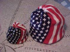 Free Pattern: American Flag Spiral Hat - Oma Englund, Knitting on the Net Knitting Patterns Free, Knit Patterns, Free Knitting, Baby Knitting, Free Pattern, Knitting Projects, Crochet Projects, Knit Crochet, Crochet Hats