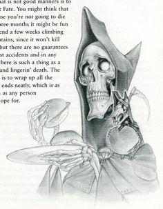 Discworld art - Death & Death of Rats.