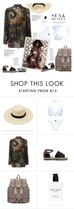 """""""By the sea with Yoins"""" by naki14 ❤ liked on Polyvore featuring Valentino, Bobbi Brown Cosmetics, yoins, yoinscollection and loveyoins"""