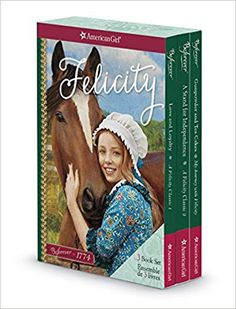 Girls can enjoy adventures with Felicity Merriman in this three-book boxed set. Colonial America Unit, American Girl Books, American Girl Felicity, Ag Dolls, Girl Dolls, Study History, Doll Repaint, Dollhouse Dolls, American Revolution
