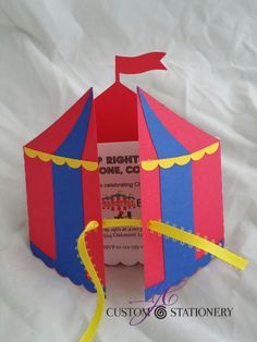 Carnival/Circus Tent Invitation These Circus/carnival Tent Party Invitations can. Carnival Tent, Circus Carnival Party, Circus Theme Party, Carnival Birthday Parties, Carnival Themes, Circus Birthday, Party Themes, Carnival Card, Circus Crafts