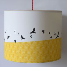 Free Flying Birds Illustrated Lampshade - children's lighting