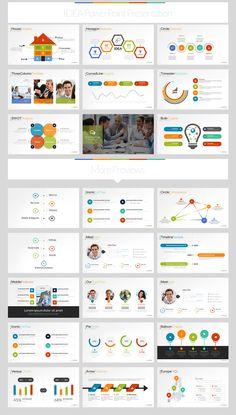 Idea Flat PowerPoint Presentation Template on Behance