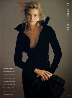 The Paris Couture: Pure Glamour- ARIANE KOIZUMI & CECILIA CHANCELLOR-British Vogue Editorial,October 1988