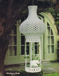 Vintage Macrame Patterns 1970s Hanging Tables Chairs Wall Hanging Rack Planters | eBay