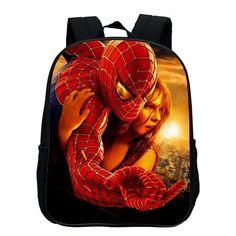 2017 Hot Sale Polyester 12 Inches Cartoon Small Backpacks Printing Hero Spiderman Kids School Bags Children SchoolBag Baby Boys