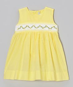 Look what I found on #zulily! Yellow Floral Smocked Dress - Infant & Toddler #zulilyfinds
