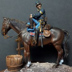 Union cavalry by g_perez_roman · Putty&Paint American Indian Wars, American Civil War, Military Figures, Military Diorama, Forte Apache, League Of Angels, Civil War Art, Pictures Of Jesus Christ, Military Modelling