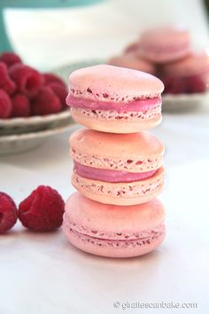 These raspberry macarons are to die for - sweet, chewy, delicate and, the best part, easy to make!