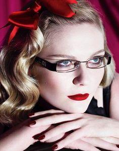Kirsten-Dunst-Wearing-Miu-Miu-Glasses Red Lipsticks, Matte Lipstick 99a1c992009a