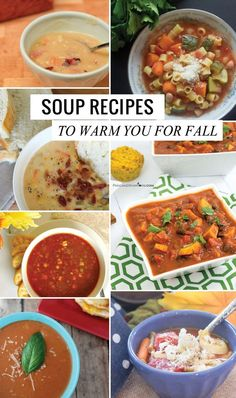 Delicious soup recipes to warm you this fall. Create healthy and hearty soup dinners.