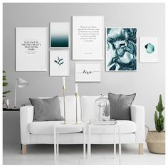 Inspiration - How to create a big gallery wall. Mix your favourite prints in different sizes to create that complete look! Head over to our webshop for more inspo www.desenio.com