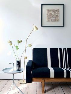 Mesa y lampara, mobiliario escandinavo | Estilo Escandinavo