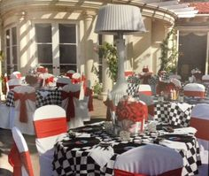 Car Hop Themed Political Party by J Divine Events (vinyl record place mats were set at each seat)