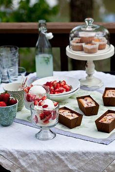 Rhubarb Financiers & Coconut Ice Cream  In The Kitchen With by tartelette, via Flickr