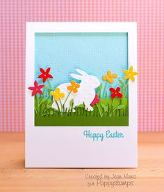 Easter card using dies from the March 2014 Release http://poppystamps.typepad.com/poppystamps/2014/04/happy-easter.html
