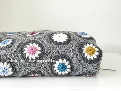 gorgeous gray crochet afghan