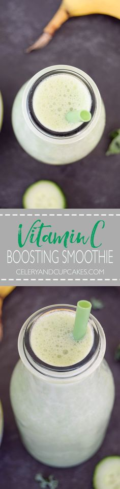 A delicious green smoothie full of vitamin C to help you feel nourished, well and fabulous.