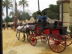 Arriving at the Feria de Jerez.