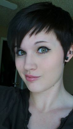 edgy pixie cut. very cute
