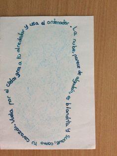 Dibujar un poema Paula F. 5ºA