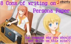 8 Cons Or Things To Consider If You're Thinking Of Writing On Persona Paper Site