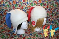 Plusle and Minun Pokemon Hat with Earflaps-Adult, Teen size- Great Geeky Gift perfect for winter